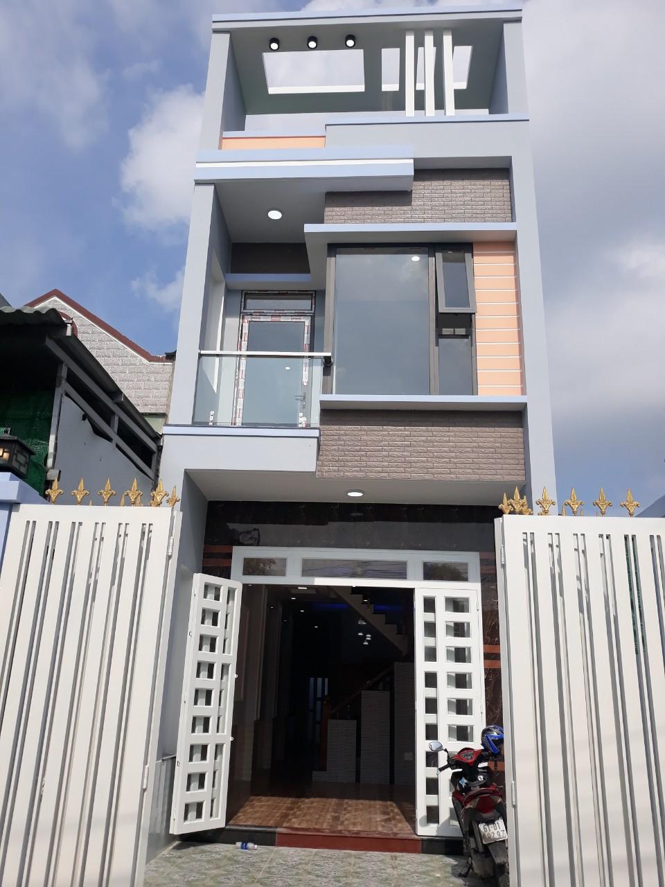Bán nhà 1 lầu 1 trệt,giá rẻ,đường phan bội châu,dĩ an,bình dương,104m