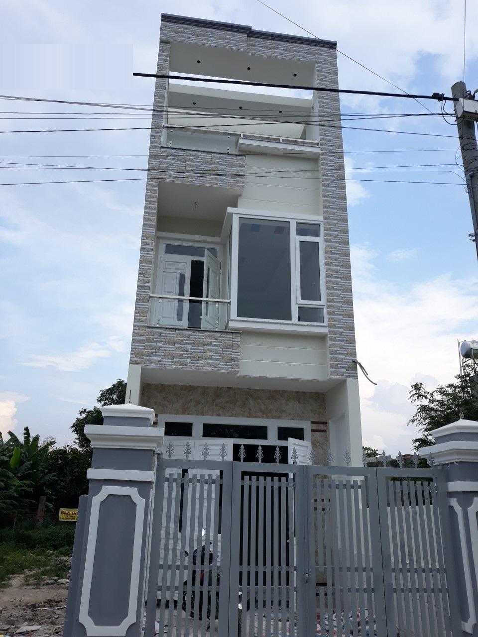 bán nhà 2 lầu 1 trệt, đường Đặng Văn Mây, Tân Đông Hiệp, Dĩ An, Bình Dương, 100m2