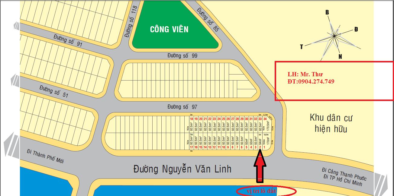 Cơ hội an cư - đầu tư tốt nhất đầu năm 2016. đất mặt tiền Nguyễn Văn Linh. Đối diện KCN Kim Huy